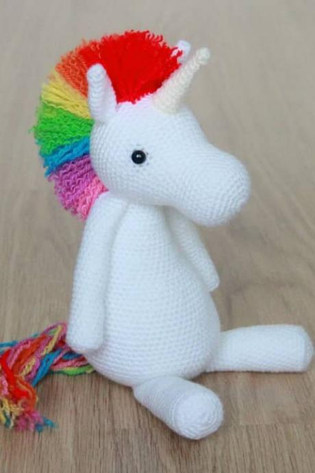Rainbow Unicorn Crochet Amigurumi Pattern